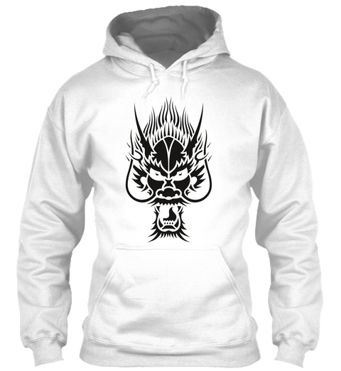 Dragon Head Black White T-Shirt Front