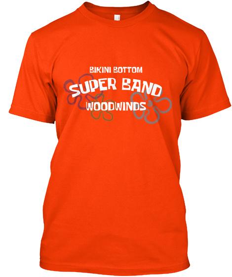 Bikini Bottom Woodwinds Orange T-Shirt Front