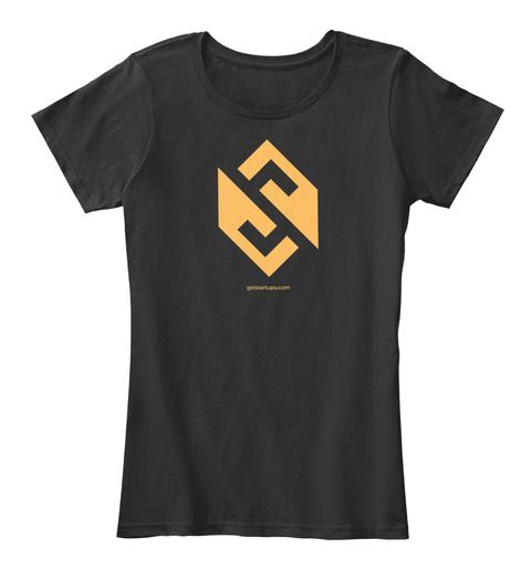 Startup U   Superhuman Entrepreneur Black T-Shirt Front