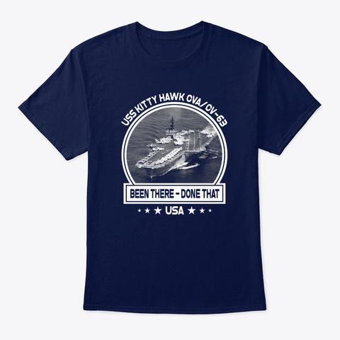 Uss Kitty Hawk Cva/Cv 63 Navy T-Shirt Front
