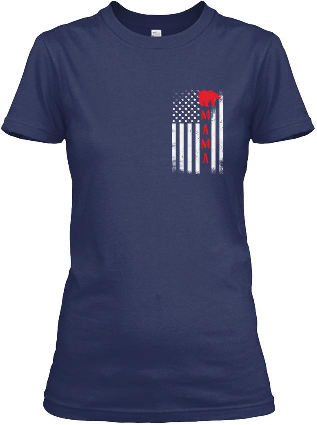 Mama-Bear-Flag-Gildan-Women-039-s-Tee-T-Shirt thumbnail 8