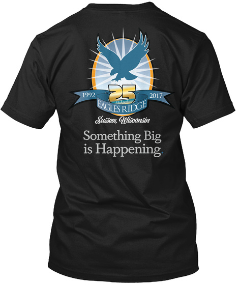 Eagles Ridge Anniversary Black T-Shirt Back