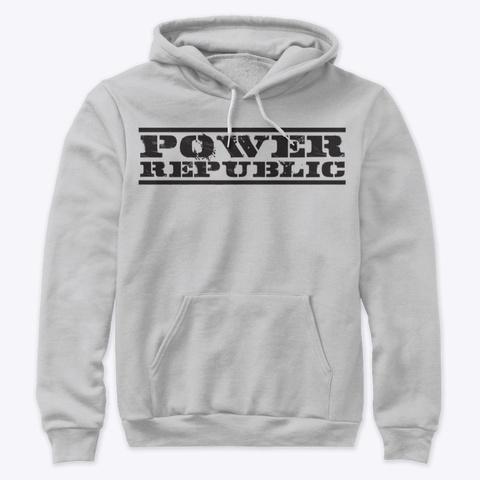 Power Republic Original Logo Hoodie Athletic Heather T-Shirt Front