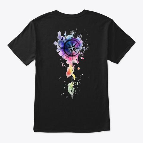 Nautical Art Black T-Shirt Back