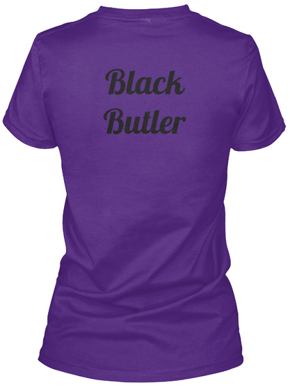 Black Butler Purple T-Shirt Back