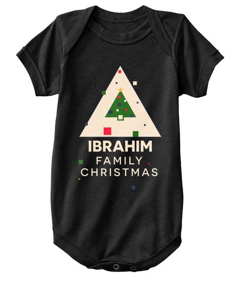 Ibrahim Family Christmas Black T-Shirt Front