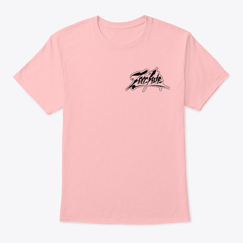 Zac Ivie Tee 1  Pale Pink T-Shirt Front