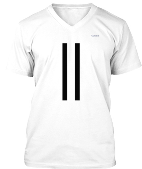 Capital R = = White T-Shirt Front