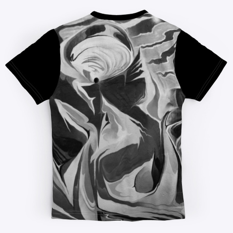 T Shirt: Abstract World Black T-Shirt Back