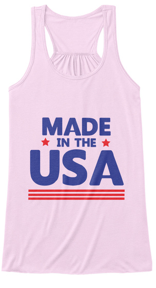 Made In The Usa Soft Pink Women's Tank Top Front