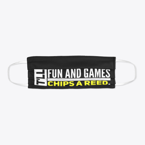 Chips A Reed   Face Mask Black T-Shirt Flat