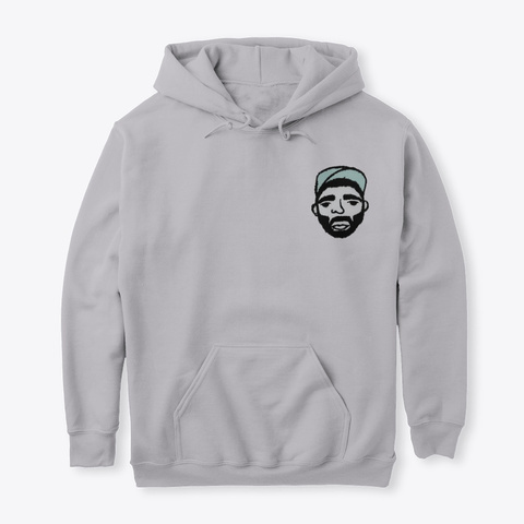 I Khan Logo Hoodie Sport Grey T-Shirt Front