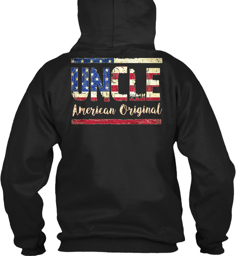 Uncle American Original Black Camiseta Back