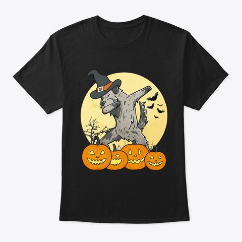 Dabbing Irish Wolfhound Dab Dance Dog Black T-Shirt Front