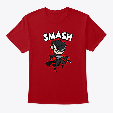 """Smasher 71 """"Transfer Student"""" Deep Red Camiseta Front"""