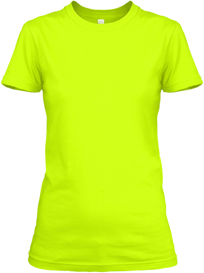 Cute Scuba Diver's Lady Safety Green T-Shirt Front