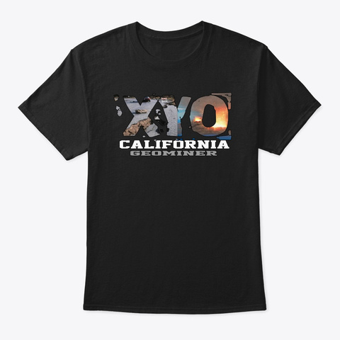 Xyo California Design Black T-Shirt Front