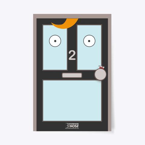 Black Door – Doorknob For A Nose Poster Standard T-Shirt Front