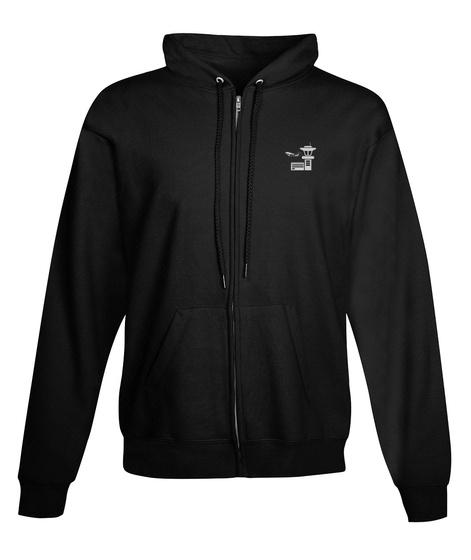 Air Traffic Controller Zipper Hoodie Black T-Shirt Front
