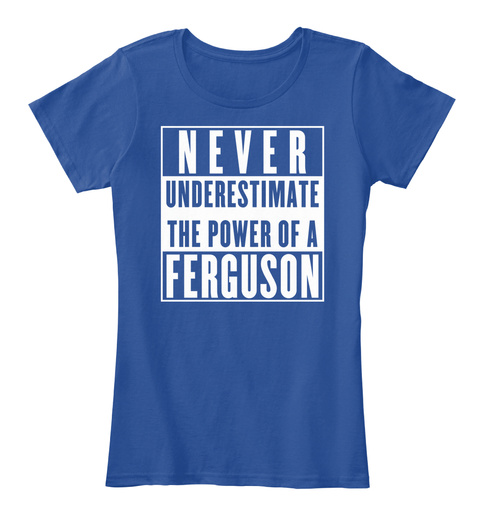Ferguson This Is My Power. Deep Royal  T-Shirt Front