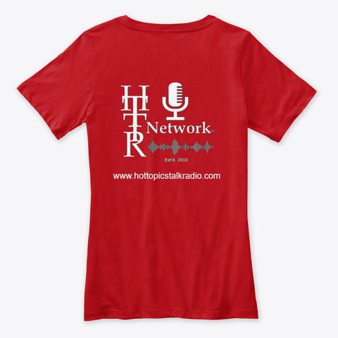 Man 2 Man Tv/Ladies V Neck T Red T-Shirt Back
