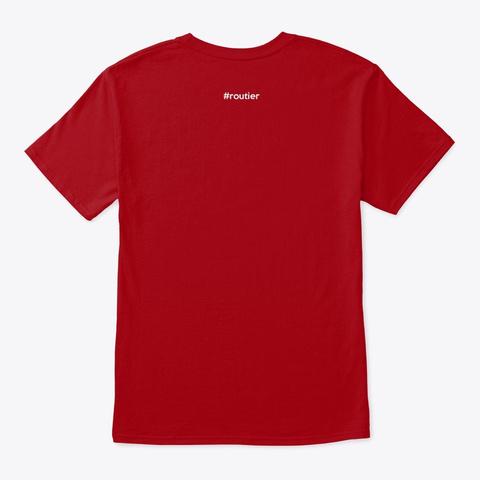 Keep Calm & Play Euro Truck (Non Dessin) Deep Red T-Shirt Back