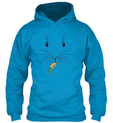 Limited Edition   Eating Carrot Sapphire Blue Sweatshirt Front