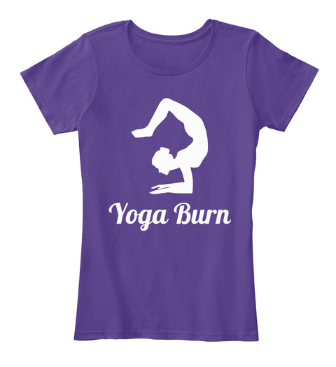 Yoga Burn Purple T-Shirt Front
