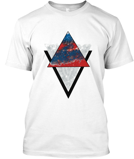 Fancy Triangle White T-Shirt Front