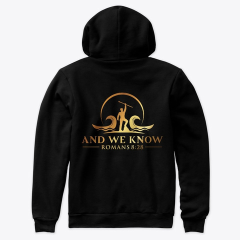 And We Know Logo 2.0! Black T-Shirt Back
