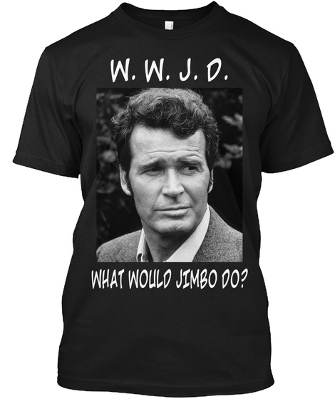 W.W.J.D. What Would Jimbo Do? Black T-Shirt Front