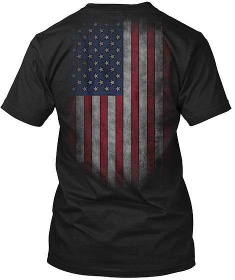 Nyberg Family Honors Veterans Black T-Shirt Back