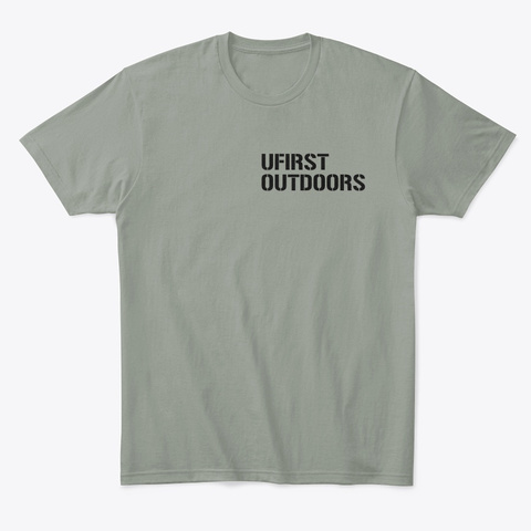 Ufirst Outdoors Logo Grey T-Shirt Front