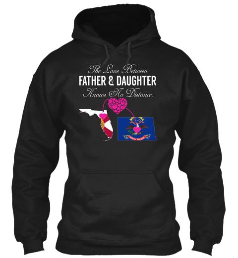 Father Daughter   Florida North Dakota Black T-Shirt Front
