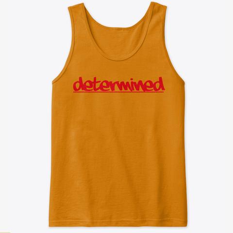Determined By: Lisa Guzman Orange Tank Top Front