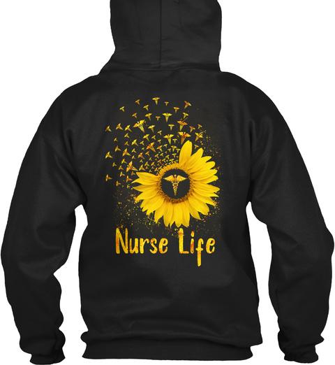 Nurse Life Black T-Shirt Back