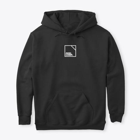 Peel Corp. // White Logo Black T-Shirt Front