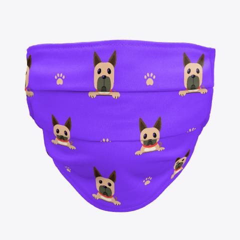 Purple Cute Great Dane Face Mask Standard T-Shirt Front