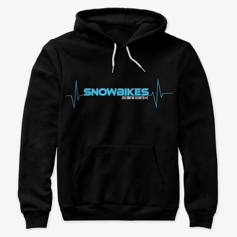 Heartbeat Snowbikes Premium Hoodie Black T-Shirt Front