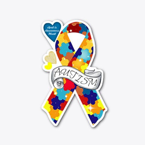Autism Awareness Ribbon Standard T-Shirt Front