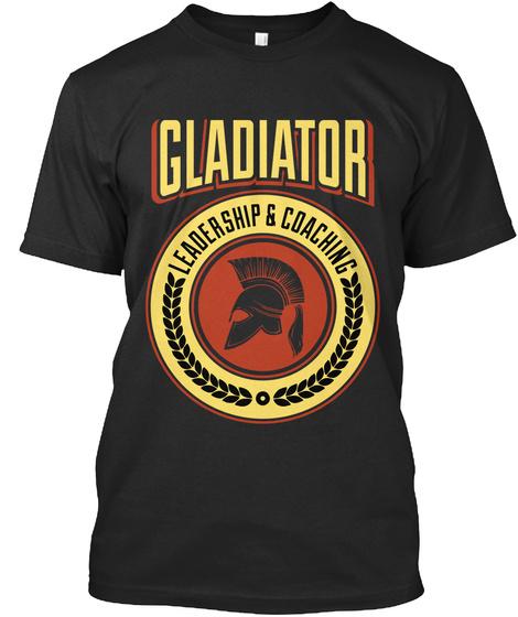 Gladiator Leadership & Coaching Black T-Shirt Front