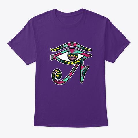 Egyptian Eye Eye Of Horus  Purple T-Shirt Front