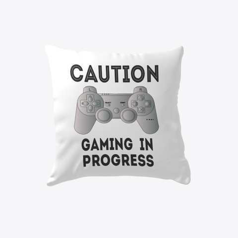 Gamer Console Lover White T-Shirt Front