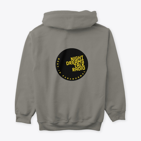 Night Dream 2021 Hoodie Charcoal T-Shirt Back