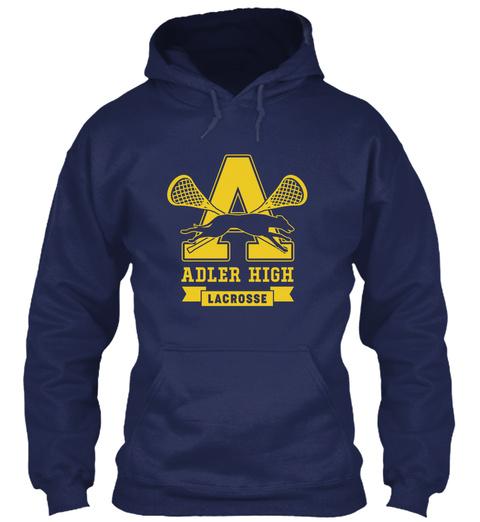 Adler High Lacrosse   Kavinsky Hoodie Navy Sweatshirt Front