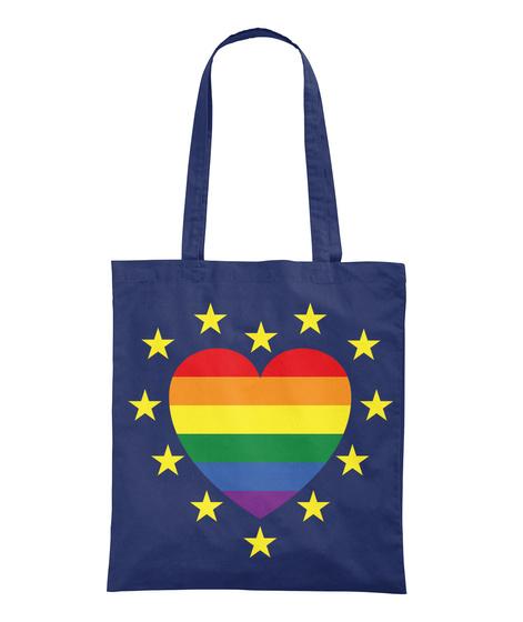 European Pride Totes And Mugs Navy T-Shirt Back