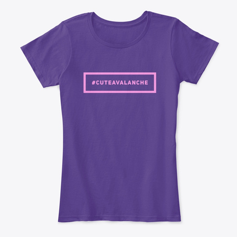 Cuteavalanche Tag Purple T-Shirt Front