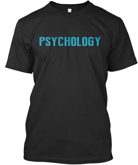 Psychology Black T-Shirt Front