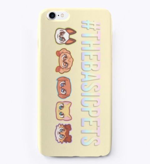 #The Basic Pets   I Phone Case Light Yellow T-Shirt Front