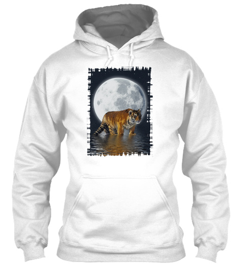 Tiger Moon White T-Shirt Front